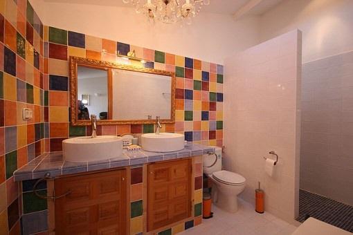 Fliesen, Badezimmer Und K U00fcchen Mediterrane Badezimmer Fliesen Bunt