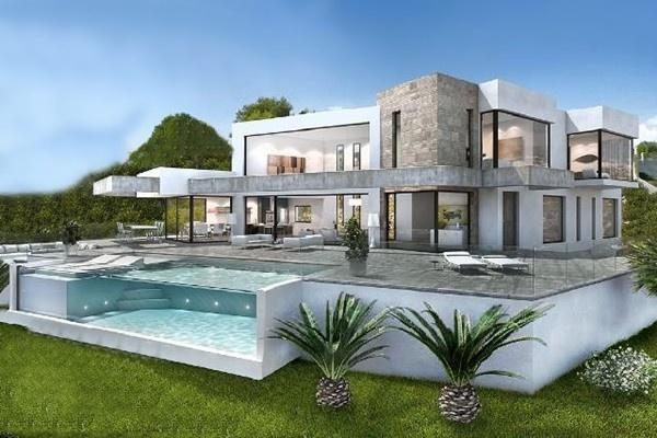 Traumhafte, moderne Villa mit 300° Panoramablick auf das Meer und fantastischem Überlaufpool