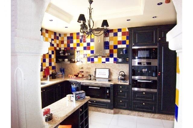 Die einzigartig designte Küche