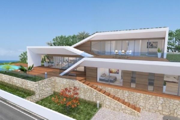Exzellente Neubauvilla im modernsten Design mit traumhaften Meerblick