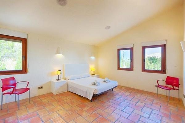 Eines der exzellenten Schlafzimmer der Villa