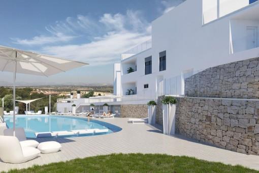 Neue Apartments mit Meerblick nahe Alicante
