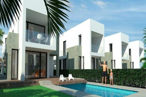 Freistehende Villa mit Pool in La Marina, Elche