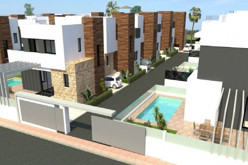 Neue freistehende Villa mit Pool nahe Torrevieja