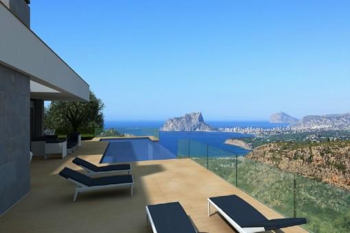 Neue Villa mit traumhaftem Ausblick in Benitachell, Alicante