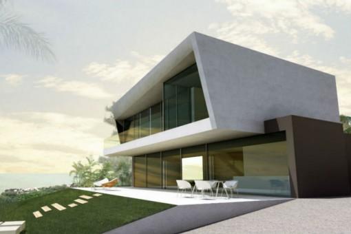 Moderne Neubauvilla mit Pool in Benissa, Alicante