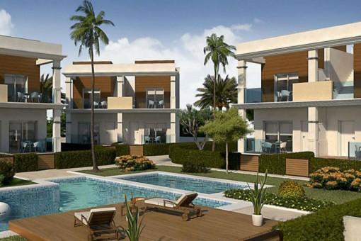 Neue Doppelhausvilla mit Pool in Rojales, Ciudad Quesada