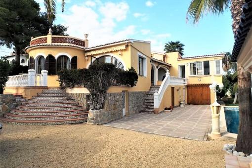 Geschmackvolle Villa mit Meerblick in Benissa an der Costa Blanca