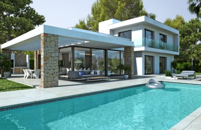 Neu gebaute Villa mit Pool und atemberaubendem Ausblick in Jávea, Alicante