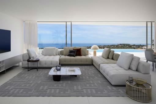 Moderner Wohnbereich mit atemberaubendem Ausblick