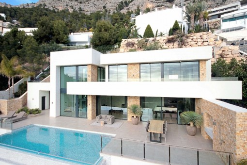 Spektakuläre Luxusvilla mit Pool und Meerblick in Altea, Alicante