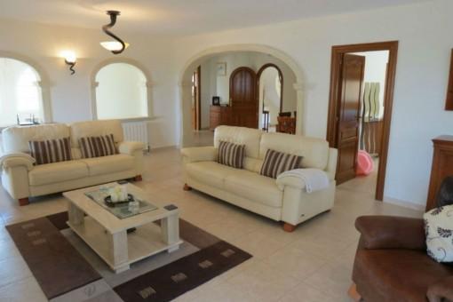 Gemütliches Wohnzimmer der Villa