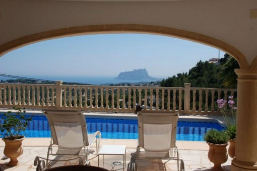 Atemberaubende Villa mit Meerblick in Benimeit, Moraira