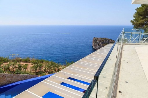 Terrasse mit Panorama-Meerblick