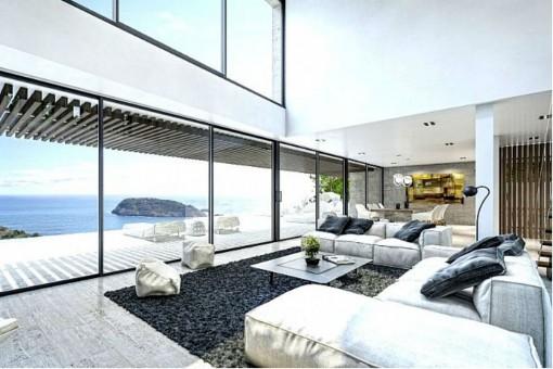 Wohn-/Essbereich mit Terrassenzugang