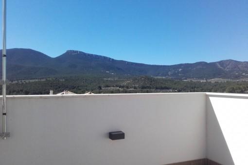 Bergblick von der Dachterrasse