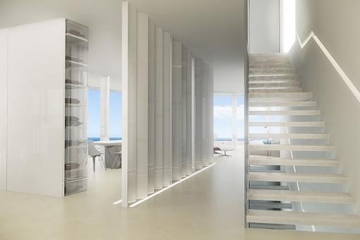 Panoramablick vom Wohnzimmer