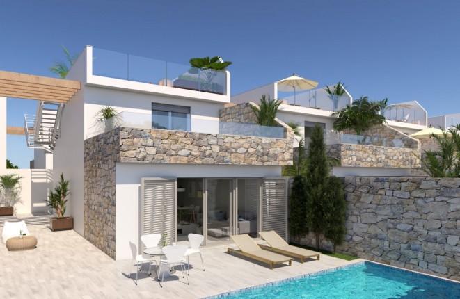 Elegante Neubau-Villa mit Terrassen und Pool in Meernähe in Los Alcázares, Murcia