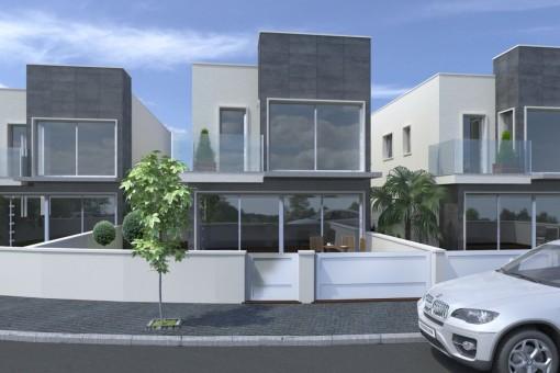 Moderne Villa im Bau in Strandnähe in San Pedro del Pinatar, Murcia
