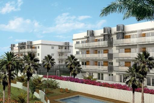 Wundervolle Wohnung mit Terrasse und Gemeinschaftspool in Denia